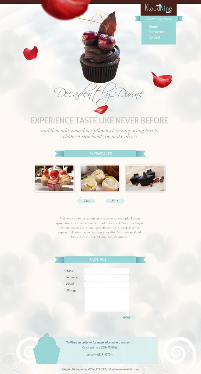 Kloud nine website design by WOW! Media Jessica Leonard